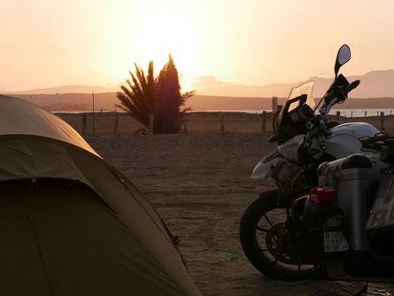Camping am Kitespot in Paracas
