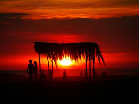 Sonnenuntergang Las Penitas, Nicaragua