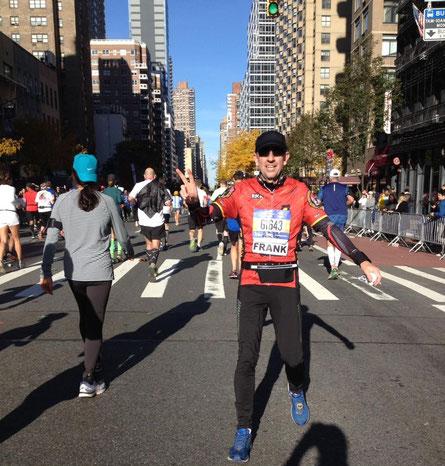 Frank Lauenroth beim New York Marathon