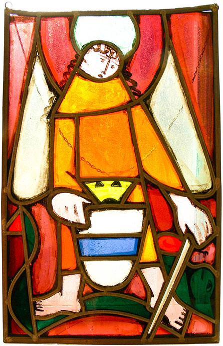 Hans Potthof Standesscheibe Erzengel St.Michael, Schutzpatron der Stadt Zug