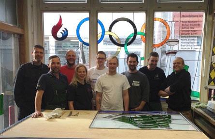Meisterschüler der Glaser-Innung Hamburg
