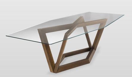 Natuzzi Italia Tisch Hex Holz Glas