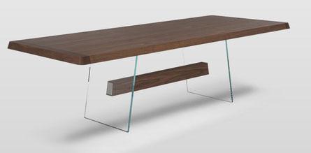 Natuzzi Italia Tisch Phantom Holz Glas