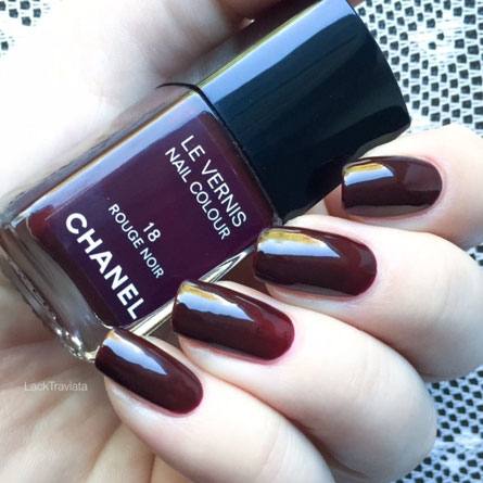 SWATCH CHANEL ROUGE NOIR 18  by LackTraviata