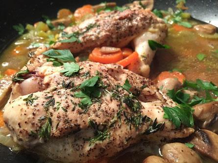 Huhn gegrillt essen abendessen abnehmen low carb hunger vorbild diät ernährung gewichtsverlust fettverlust