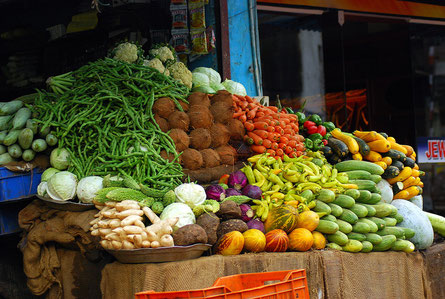 Gemüse Obst gesunde Ernährung Abnehmen Gewichtsverlust Sixpack Rumpf Core