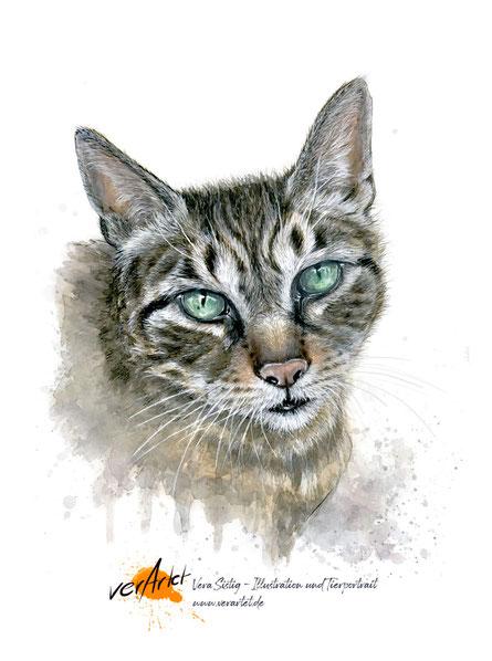 Wenn ein Tier geht, bleibende Erinnerung, Tier malen lassen