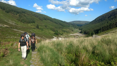 Wandern in den Wicklow Mountains