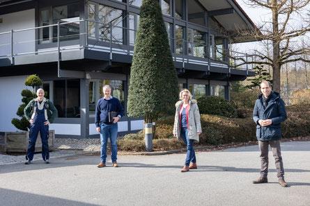 v.l. Ich, Herr von Ehren, Birgit Stöver, Dennis Thering