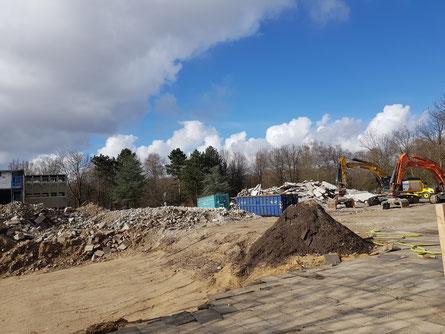 Schule am See am Borchertring mittlerweile fast vollständig abgerissen