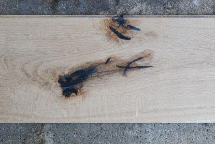 オーク 幅広 乱尺 キャラクター アンドウッド andwood 新潟 ショウルーム 無垢フローリング 節の例