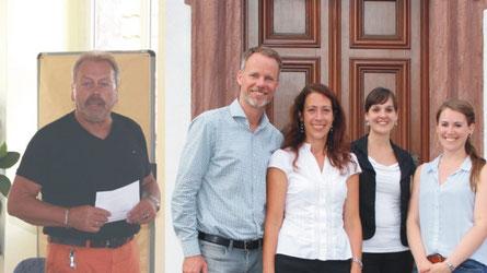 Rhönforum-Vorsitzender Manfred Grob begrüßte die Teilnehmer / das Team von BTE