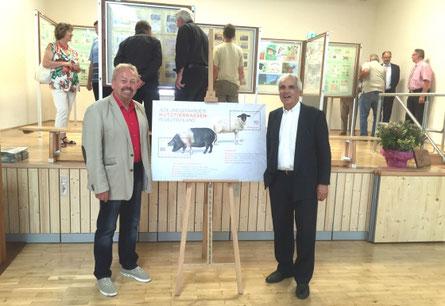 Rhönforum-Vorsitzender Manfred Grob (Foto l.) und Rhönforum-Schatzmeister Peter Casper (Foto r.) waren zusammen mit weiteren prominenten Gästen vor Ort.