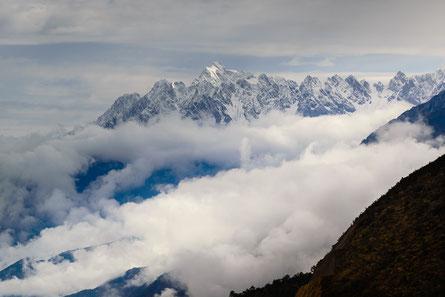 Jadedrachen-Schneeberg (Yulong Xueshan) in der Provinz Yunnan, 5596m