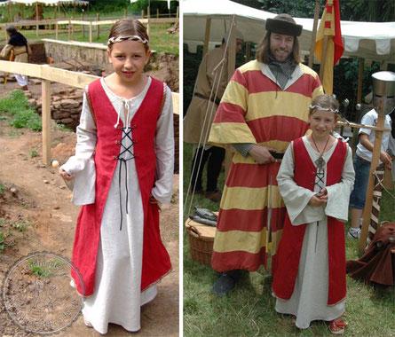 mittelalterliches Kindergewand, Mittelalterkleid, Gewandungen, Gewänder
