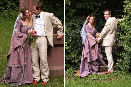 schönes Hochzeitsgewand, Mittelalterkleid, Gewand