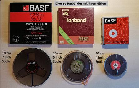 Tonträger-Formate #2: Tonbandspulen 18cm, 15 cm, 10 cm / good-vinyl.de