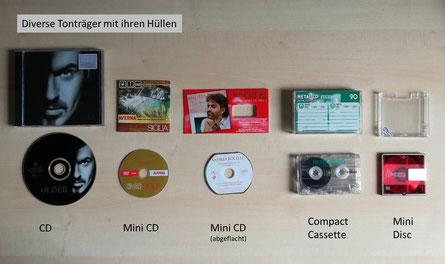 Tonträger-Formate #1: CD, MiniCD, Compact Cassette, Mini Disc / good-vinyl.de