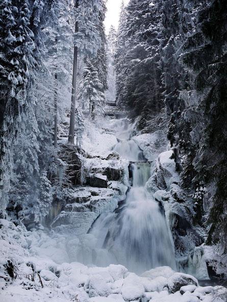 Triberger Wasserfälle, auch im Winter imposant