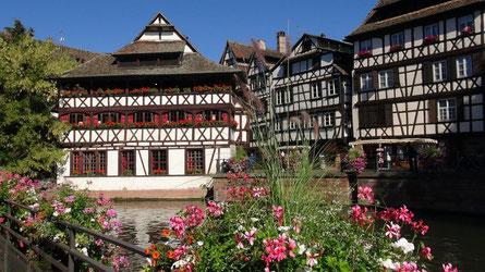 Petite France, vielleicht das charmanteste Stadtviertel das Straßburg seinen Gästen bieten kann.