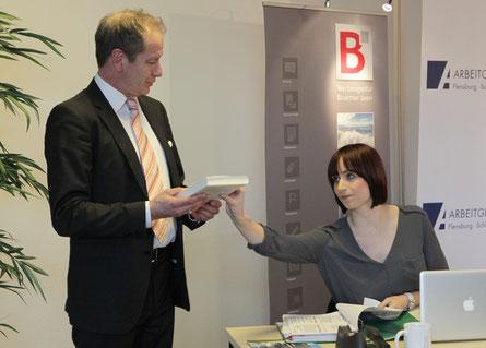Anne-Katrin Böhm, Matthias Listner; Business-Theater Treffpunkt Wirtschaft des Arbeitgeberverbandes 2014