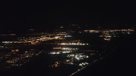L'aéroport de Rennes dans la nuit