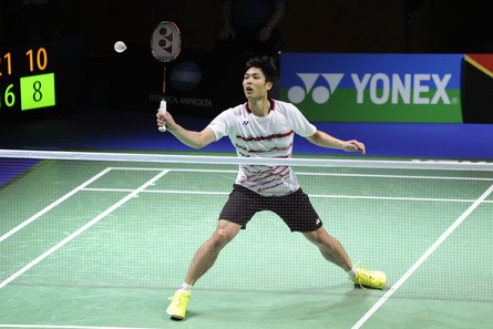 Der Taiwanese Chou Tien Chen kürte sich 2017 zum Titelträger im Herreneinzel. Die Olympiasieger Lin Dan (2008 und 2012) und Chen Long (2016) aus China hingegen verpassten den Einzug ins Finale.  Foto: Claudia Pauli