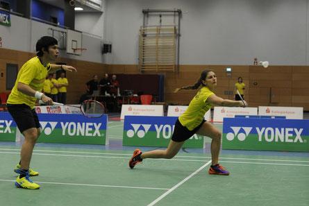 Jones Ralfy Jansen und Eva Janssens steuerten im Mixed einen Punkt zum 5:0-Sieg des DBV bei.  Foto: Claudia Pauli.