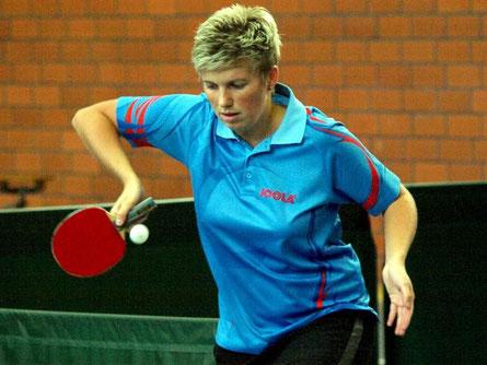 Zweimal im Einzel und einmal im Doppel erfolgreich: Mannschaftsführerin Sarah Schneider.