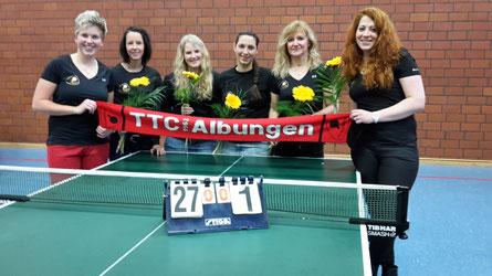 Aufstieg in die Verbandsliga: (von links) Sarah Schneider, Ines Reifenstahl, Nele Freitag, Annika Oesterheld, Christa Beck und Martina Becker.
