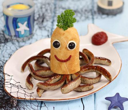 Bratwurst-Tintenfisch