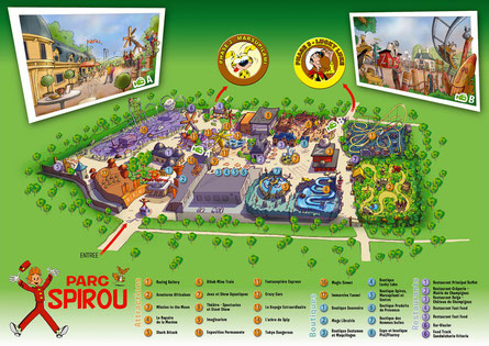 Plan du parc Spirou