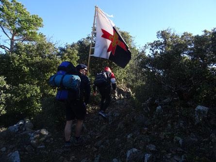 Els scouts, durant la ruta