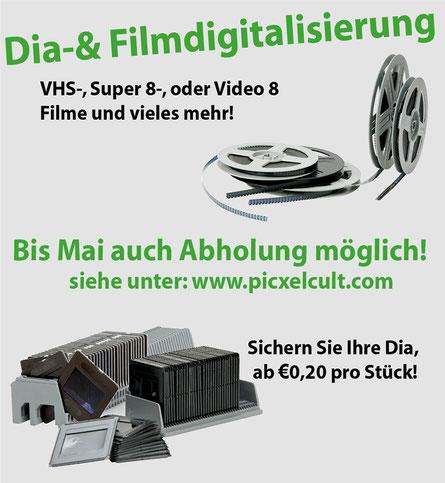 Digitalisierung, Dia-Scan, Filmdigitalisierung