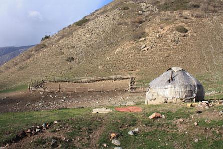 Jurte, Shyloo, Sommerweide, Kirgistan