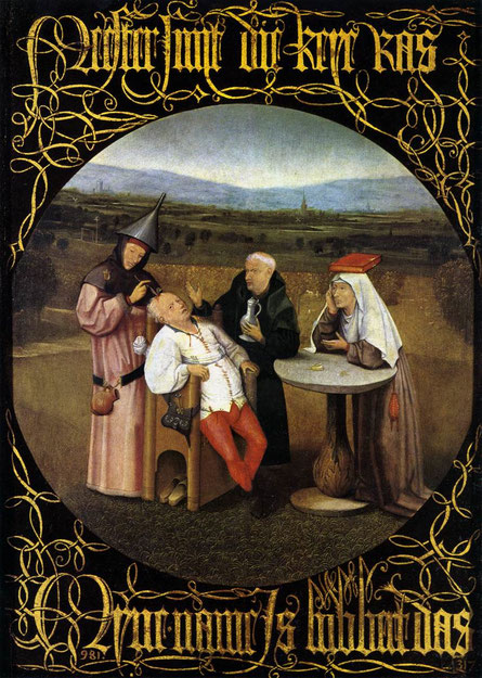 """L""extraction de la pierre de folie"" par Jérome Bosch - Musée du Prado"