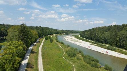 Fluss Isar München