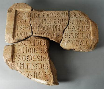 nscription en vieux français - XIIIe siècle