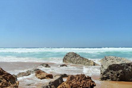 Strand Felsen Meer Sonne Lalla Fatma Marocco