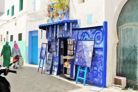 Basar Essaouira, farbenprächtiger orientalischer Basar, Marokko
