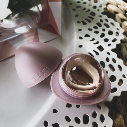 eos Crystal Lip Balm Produkttest Hibiskus Peach