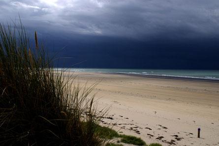 Foto einer Unwetter-Situation am Strand