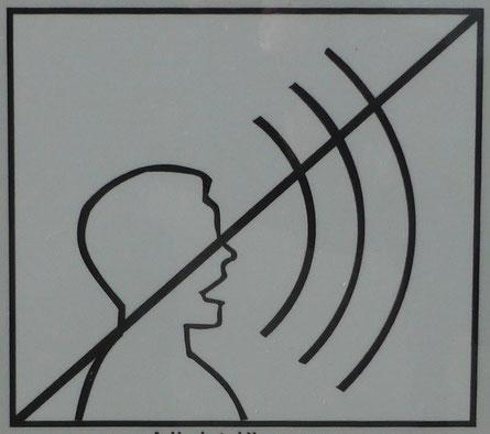 "Piktogramm ""Ruhe, nicht lärmen"""