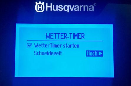 Der Wettertimer von Husqvarna