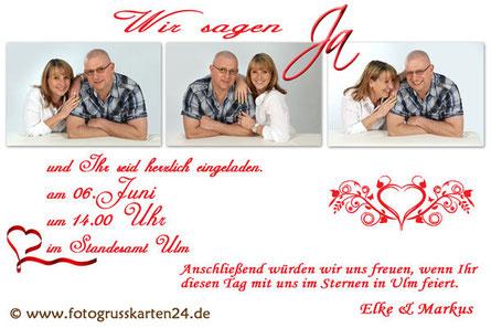 Hochzeit Einladungen mit Foto Einladungskarten