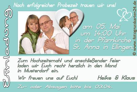 Einladungskarten zur Hochzeit Einladungen Trauung