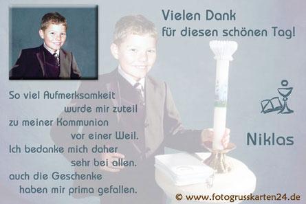 Dankeskarten zur Erstkommunion Danksagungen Kommunion