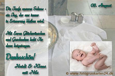 Dankeskarten Taufe