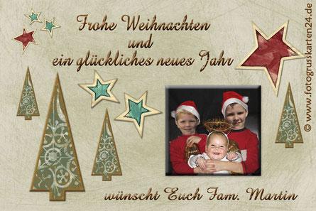 Foto Namen Weihnachtskarten