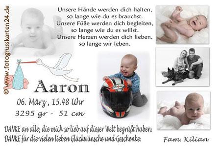 Babykarten Geburtskarten